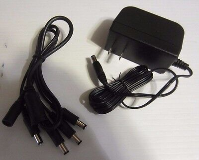 LOREX SWANN  Camera 4-in-1 AC Power Adapter Pack & Cable - 12v 2a NEW