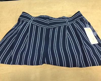 Michael Kors Women's Striped Dress Pants Size M Dark Blue
