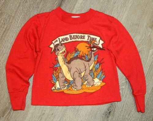 RARE VTG 80s 1988 The Land Before Time Movie Promo Sweatshirt Toddler Sz 4-5T