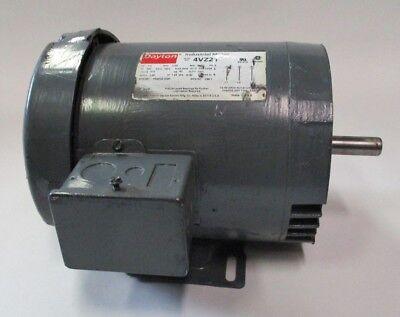 Dayton Electric Motor-4vz21-12hp-1800-3ph-tefc-56c-575v-used