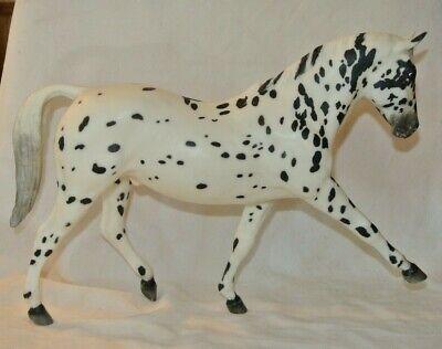 "Retired Breyer White K 379 branded spotted horse walking pacing 12"" long 9"" tall"