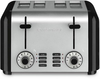 Cuisinart Cpt 340 4 Slice Toaster Reheat Bagel Defrost  Brushed Stainless Steel
