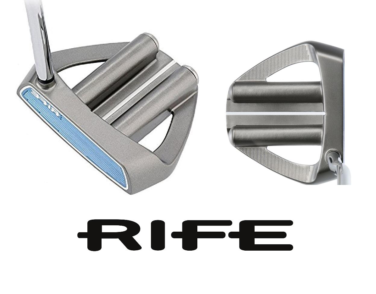 Details about New Rife Tour 2 Bar Hybrid Mallet Satin Golf Putter Left Hand  Belly Putter 43