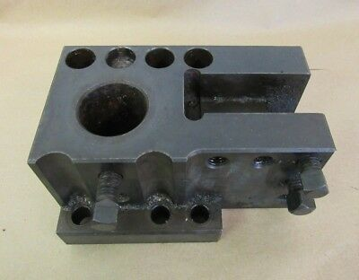 Combination Tool Holder Base Removed From Ikegai Fx20n Lathe