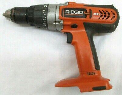 Ridgid 18v Cordless 12 X2 Hammer Drill Driver R8411503 Bare Tool