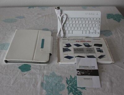 I Pad Mini Case & Removable Bluetooth Keyboard, used for sale  Shipping to India