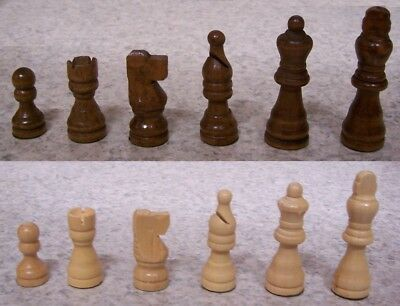 Chess Set with folding Wood Board Storage Box wood pieces 2 1/2