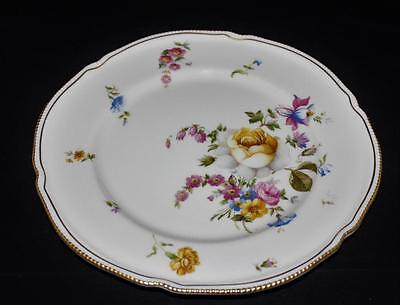 Castleton China ASCONA Gold Pearl Edge, Multicolored Floral Dinner Plate 10 3/4""