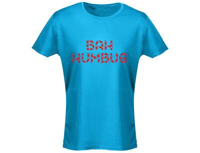 Bah Humbug Funny Christmas Womens T-Shirt (12 - Bah Humbug Kostüm