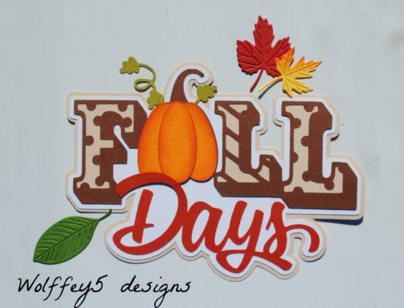 CRAFTECAFE FALL TITLE premade paper piecing scrapbook diecut piece page album 3D