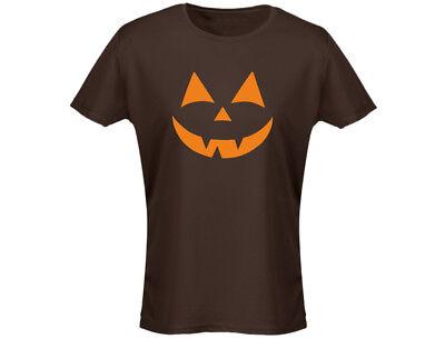 Halloween Originals Scary Face Womens Halloween T-Shirt (12 Colours) ()