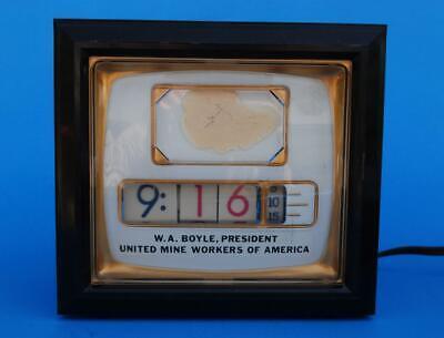 Numechron TV Desk Clock 700-PI Model United Mine Workers of America