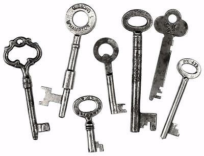 Antique/Vintage Keys Job Lot of 7 - Box/Door/Furniture/Padlock - My Ref.J66