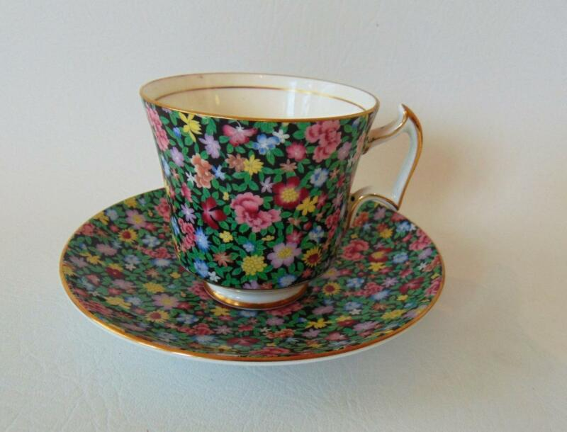 Royal Chelsea MILLE FLEURS Chintz Cup and Saucer