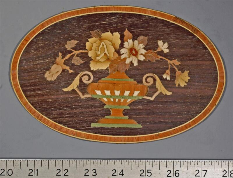 MRQ-114 Rare Salesman Sample Marquetry Floral Panel from Buffard Freres