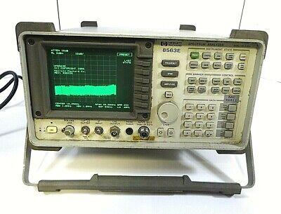 Hp 8563e Spectrum Analyzer - Opt J3 - 9 Khz-26.5 Ghz - Free Shipping