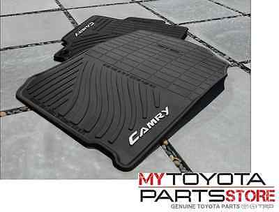2012 2014 Camry Floor Mats  ALL WEATHER  4PC Set Genuine Toyota PT908 03120 20