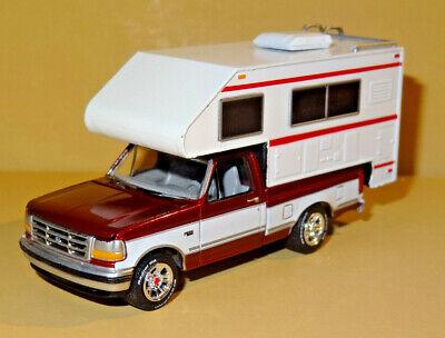 1993 93 FORD F150 PICKUP TRUCK CAMPER W// HITCH RARE 1:64 SCALE DIECAST MODEL CAR