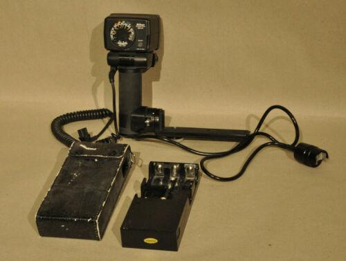 Vintage Nikon Speedlight flash system with SB-14, SC-12, case, etc.