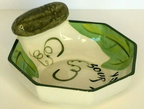Sour Pickle Serving Bowl BBQ Party Condiment Pickling Jewish Holiday Unique Gift