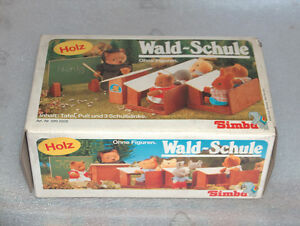 collectors woodland school simba bear family toys nurnberg west germany 1980s. Black Bedroom Furniture Sets. Home Design Ideas