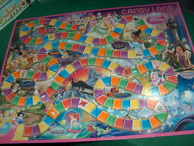 Candy Land Disney Princess Edition  replacement Game Board ONLY - Candyland Gameboard