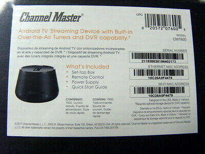 Channel Master CM-7600 Stream + Media Player and OTA DVR - Black