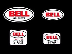 BELL-STAR-1-2-Casco-Adesivi-x-4-Vintage-Retro-F1-CASCO-MOTORSPORT-KART