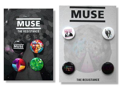 Muse 8 Pin Button Gift Set Pack Resistance New Band Official Licensed -