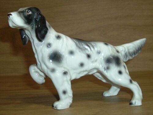 Vintage English Setter Dog Figurine, Porcelain or Ceramic?