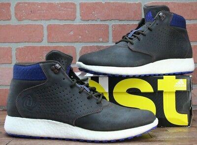 7ea161567cc3 ADIDAS D ROSE LAKESHORE BOOST Dark Brown Blue Men s Shoes C77495 size 12