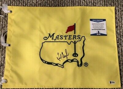 Fred Couples Masters Flag (Fred Couples Signed Undated Augusta National Masters Pin  Flag Beckett Certified )