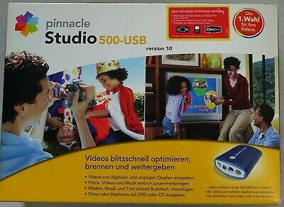 pinnacle Studio 500-USB - Version 10 - Videostation / Videoschnitt Software