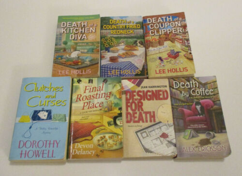 Lot of Seven (7) Cozy Mystery Books - 5 Authors! - FREE SHIPPING!