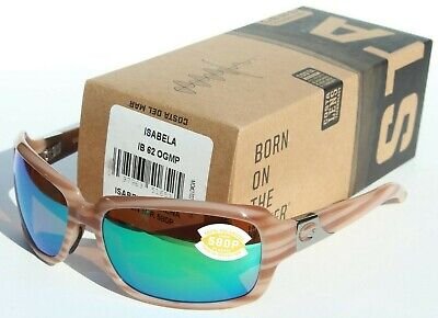 COSTA DEL MAR Isabela 580 POLARIZED Womens Sunglasses Morena/Green 580P (Costa Isabela)