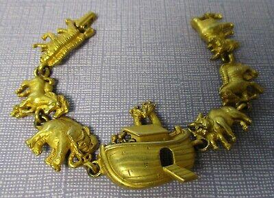 C Themed Dress Up (Signed A.J.C. Noah's Ark Theme Goldtone  Vintage)
