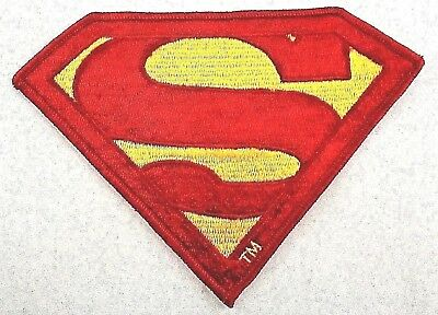 """SUPERMAN Sew-On Patch (5""""x 6.5"""")  From The Movie & Soundtrack Album, WB (1978)"""