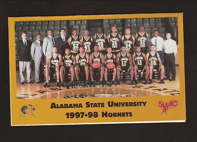 State Hornets Basketball - Alabama State Hornets--1997-98 Basketball Pocket Schedule--Winn-Dixie