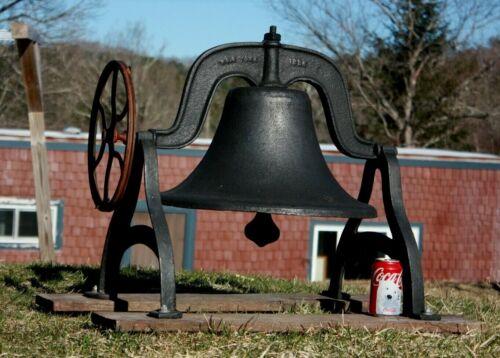 Large Antique Cast Iron School Farm Bell