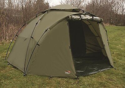 TF Gear Green Force 8 2 Man Bivvy Carp Fishing Shelter Ex Demo Quick Erection
