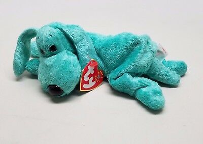 Ty Diddley the Dog Beanie Baby Retired Clean w/ Tag ERROR