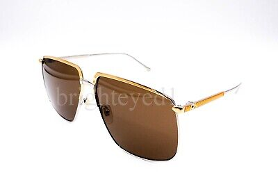 Authentic GUCCI Silver/Gold Sunglasses GG0365S - 002 *NEW*