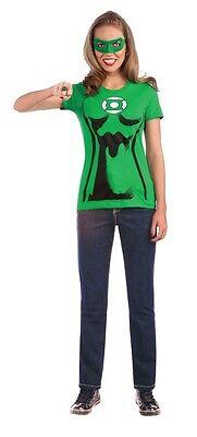 Rubies Dc Green Lantern Erwachsene Damen Halloween Kostüm T-Shirt Hemd 880473