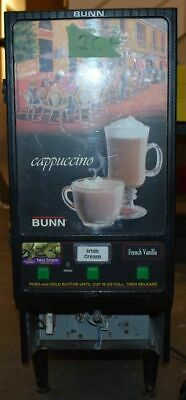 Bunn-o-matic Hc-3-blksst 3-flavor Dispenser Cappuccino Machine Used Sold As Is