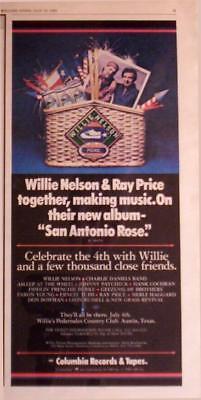 1980 WILLIE NELSON & RAY PRICE  ALBUM PROMO AD