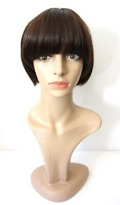 Short Brown Halloween Wig (NEW Brown Short Bob Hair Wig Heat Resistant Halloween Cosplay Costume)