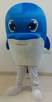 Dolphin Mascot Costume Cosplay Cartoon Walking Adults Fancy Dress Parade Outfits (Dolphin Costume)