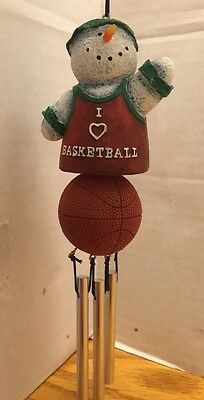New Creative Enterprises Snowman Basketball Windchime