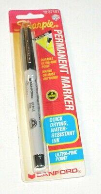 Vintage Sharpie Sanford Ultra Fine Point Permanent Black Marker Pen 37101 Mip