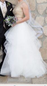 Unique 2-Piece Wedding Dress & Veil FOR SALE